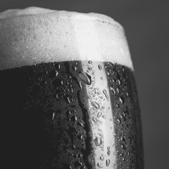 craft beer porter or stout in a glass