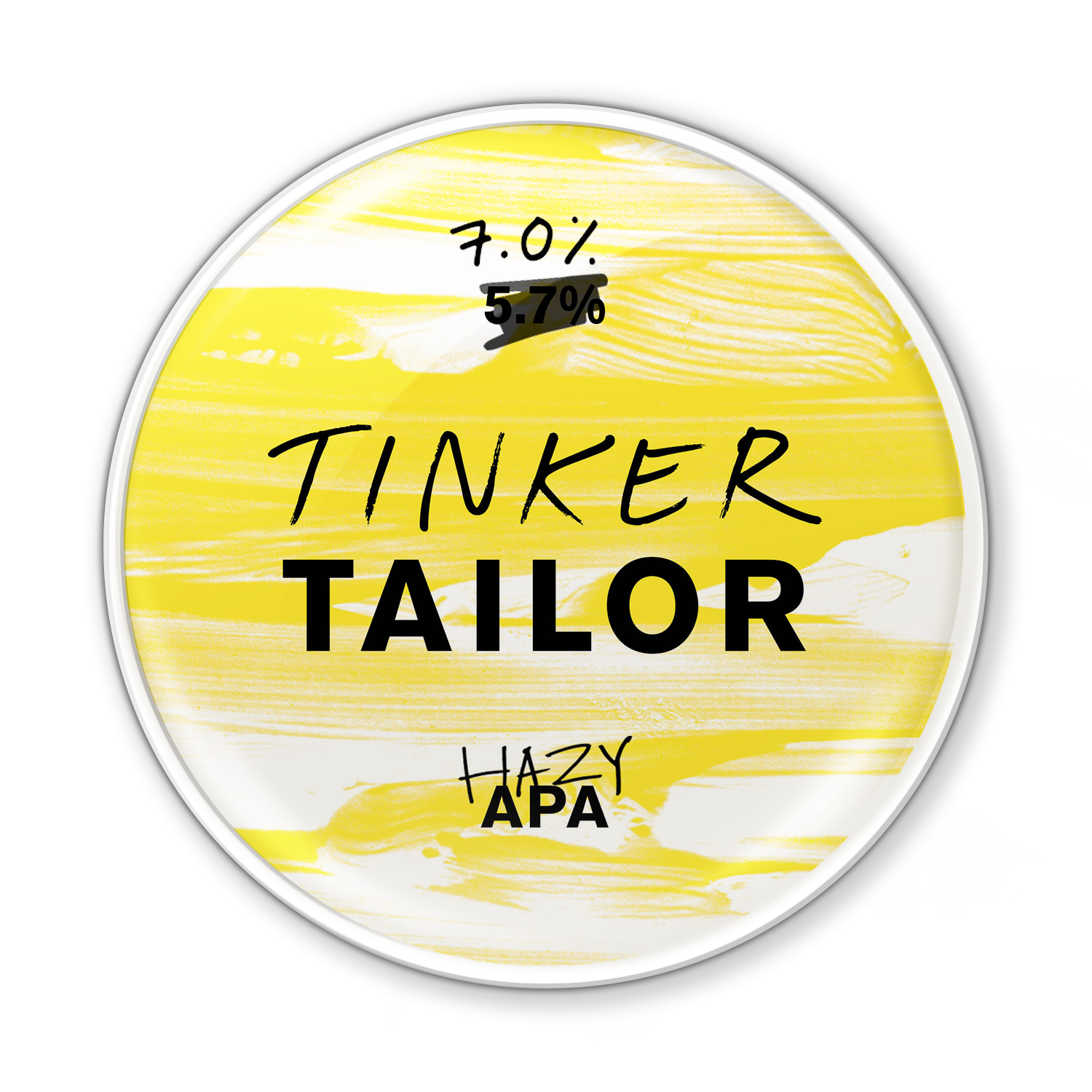Hazy APA - Tinker's gone a bit crazy with this one. Our APA's been amped up with wheat, stone fruit flavours, and buckets of hops. An opaque and opulent offering.Try it with a spicy Thai curry to get your tastebuds really going.7.0%