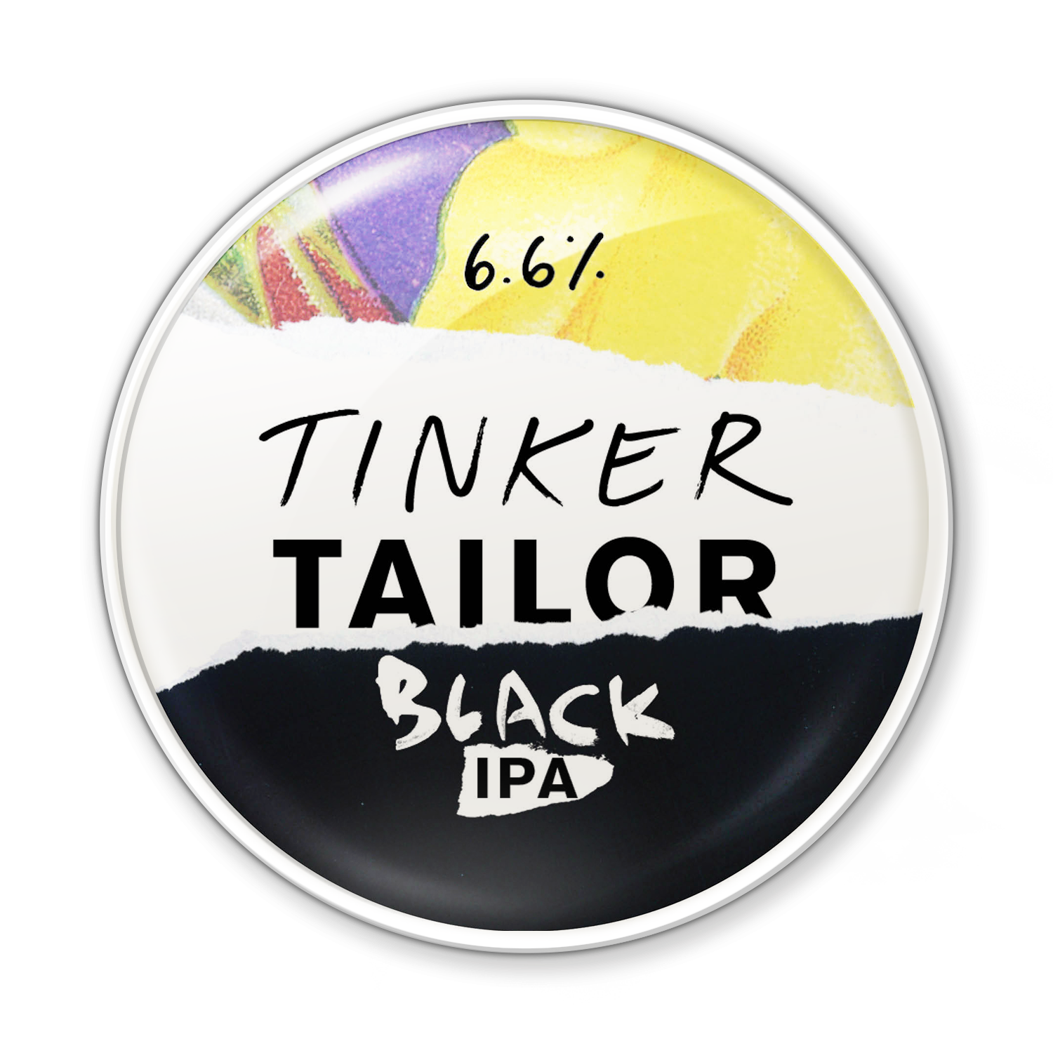 Black IPA - Tinker's gone over to the dark side! Our IPA has been blended with black malts to create a memorable mash-up of espresso and evergreen. A surprisingly sensuous sipPairs well with sharp cheeses such as a smoked gouda.6.6%