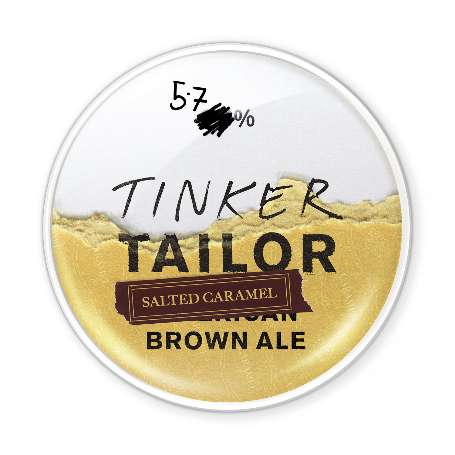 Salted CaramelAmerican Brown Ale - Tinker's travelled the earth to bring you this tasty brew. Our American Brown Ale has been sprinkled with the finest Himalayan rock salt to discover an unrivalled balance of sweetness and saltiness. A comforting concoction. Try contrasting the subtle sweetness with an aged cheese for a taste-testing combination.5.7%