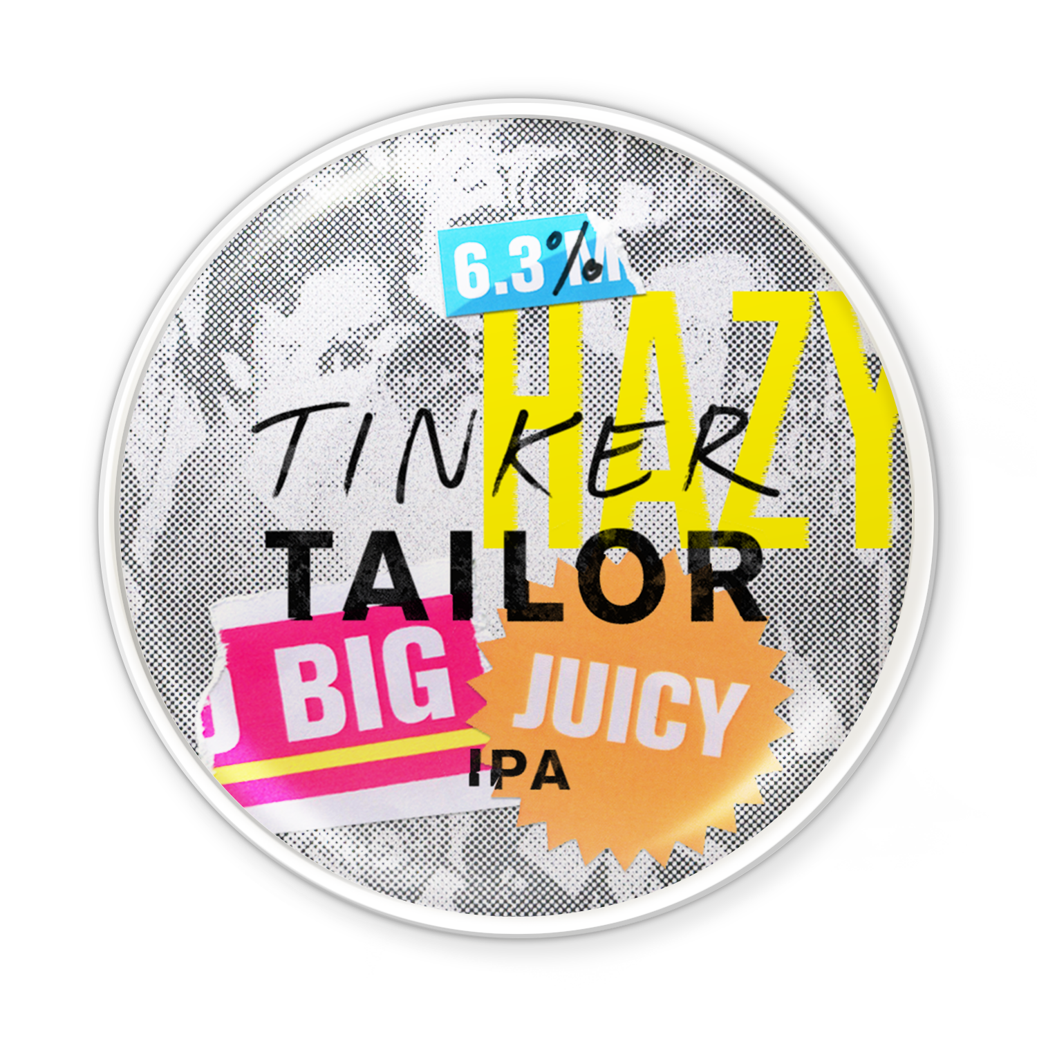 Big Juicy IPA - Tinker's dreaming of hazy, east coast summer days. Our IPA's tropical heart just got even more intense with this big, bright juicy cocktail. An unfiltered, unrivalled hit of peaches and apricot. A fruity, fresh flavour bomb.Pair with grilled seasonal greens like asparagus.6.3%Read reviews