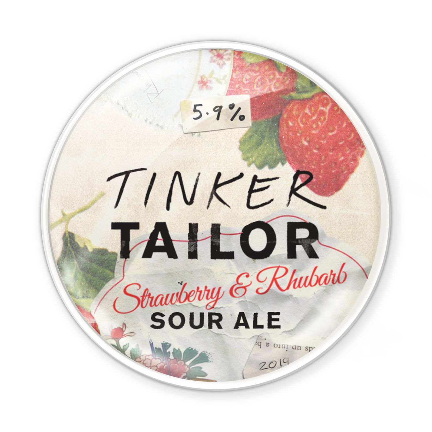 Strawberry Rhubarb Sour Ale - Tinker's jumped the garden fence to bring you this thirst-quencher. Our Sour Ale has been twisted with tangy rhubarb and sweet strawberry to create flavours bursting with deliciousness. A tart and jammy drop.Try it with goat cheese, or a rhubarb crumble with marscapone.5.9%Read reviews