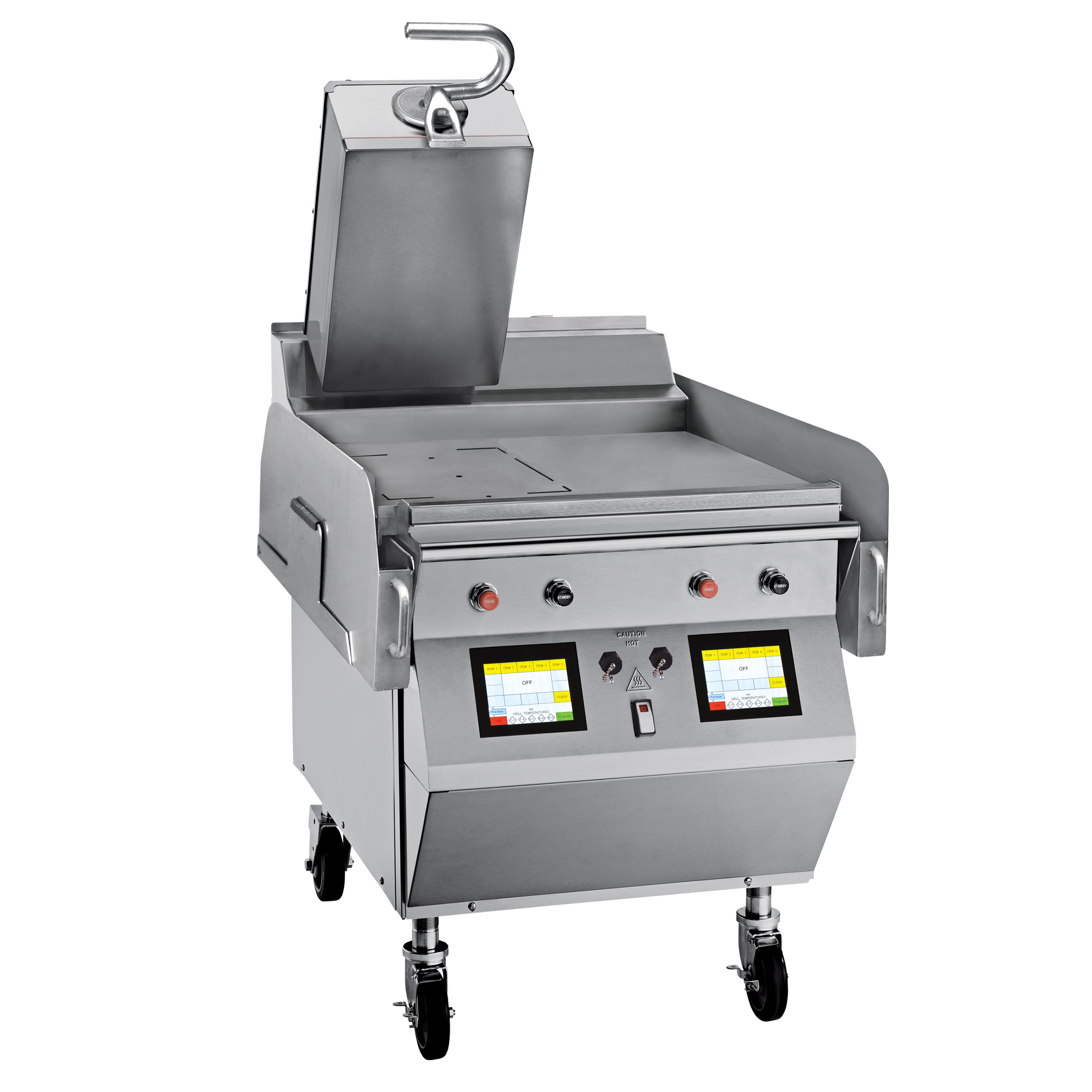 """Model L821   Gas 1 Platen 24"""" Grill  One touch menu selection automatically provides accurate TIME, TEMPERATURE and GAP settings for every product.  KEY SPECIFICATIONS:   Lower Cooking Surface Heat Source : Gas   Upper Platen Heat Source : Electric   Cooking Surface Dimensions : 24""""   Installation : Floor Model   Upper Platens : 1"""