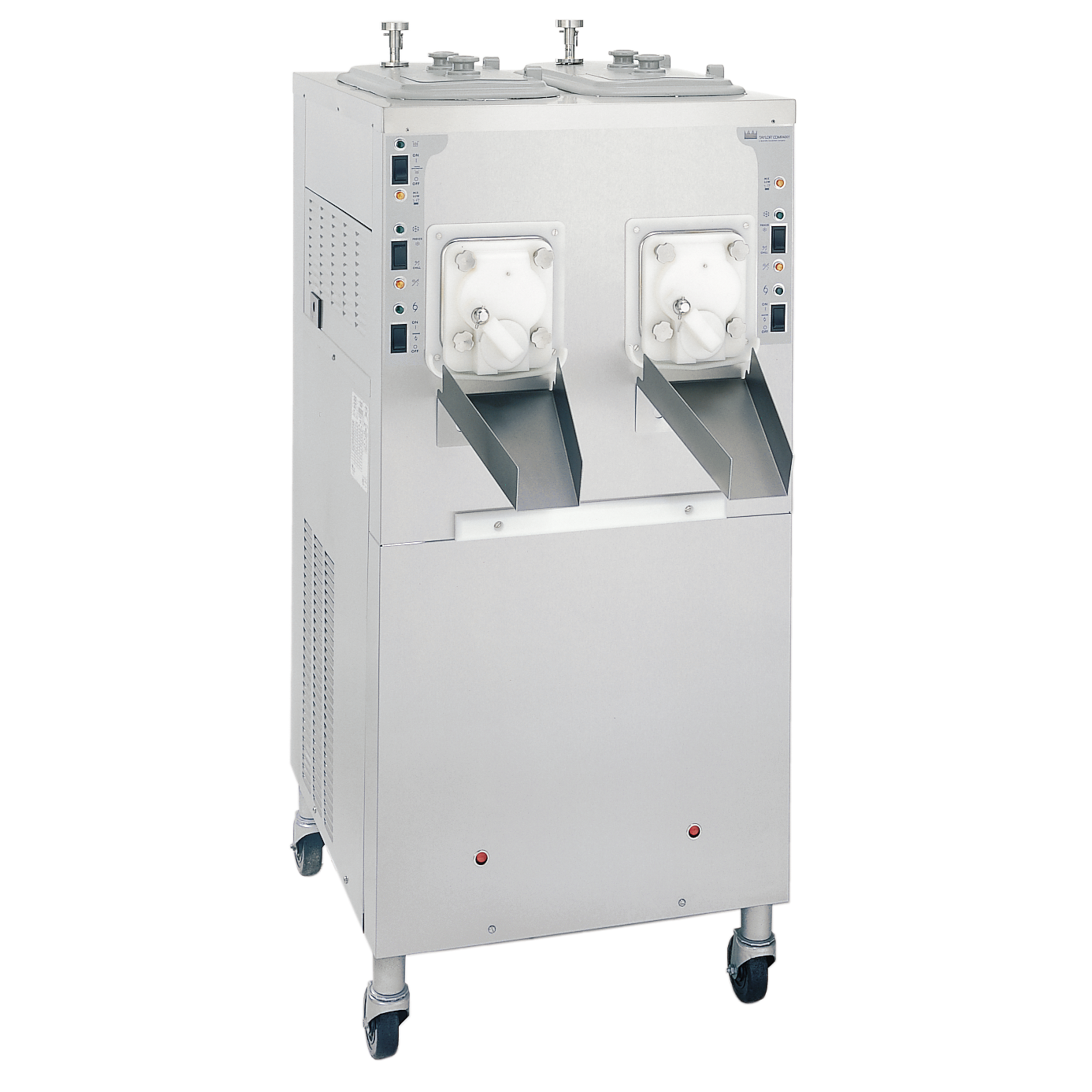 Model C002   Continuous Batch Freezer  Offer super premium frozen custard, low overrun ice cream or sorbet in two separate flavors.  KEY SPECIFICATIONS:   Finished Products : Batch   Installation : Floor   Number of Flavors : 2   Freezing Cylinder QTY : 2   Freezing Cylinder Size (qt/l) : NA