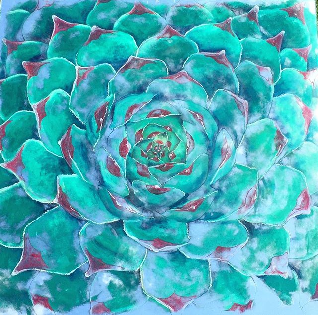 Fibonacci's Succulent. Being featured at my solo exhibition at @lagunabeachchakragallery April 27 #nickyalice #fibanocci