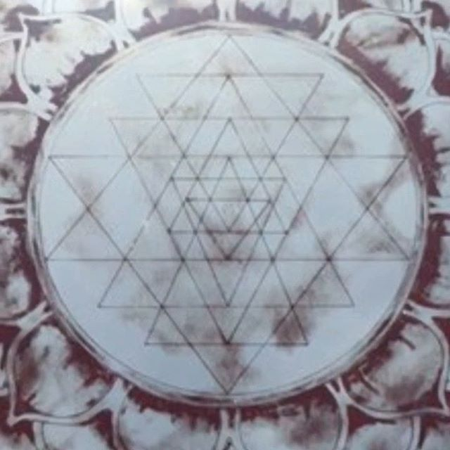 Sri Yantra • Mirror and Blood • To be unveiled at my solo exhibition April 27 @lagunabeachchakragallery #sriyantra #mirrorartist #nickyalice