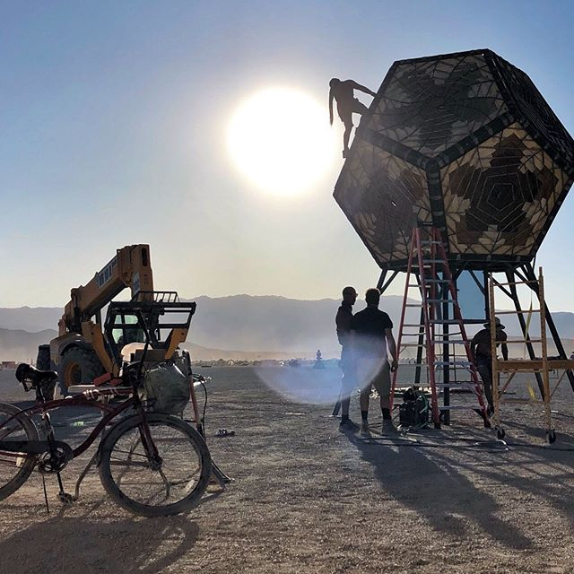Thanks @dancingburningman for capturing the build when we weren't looking #projectportal @burningman