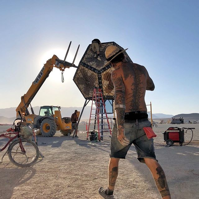 Build week at @burningman #projectportal #burningman2019