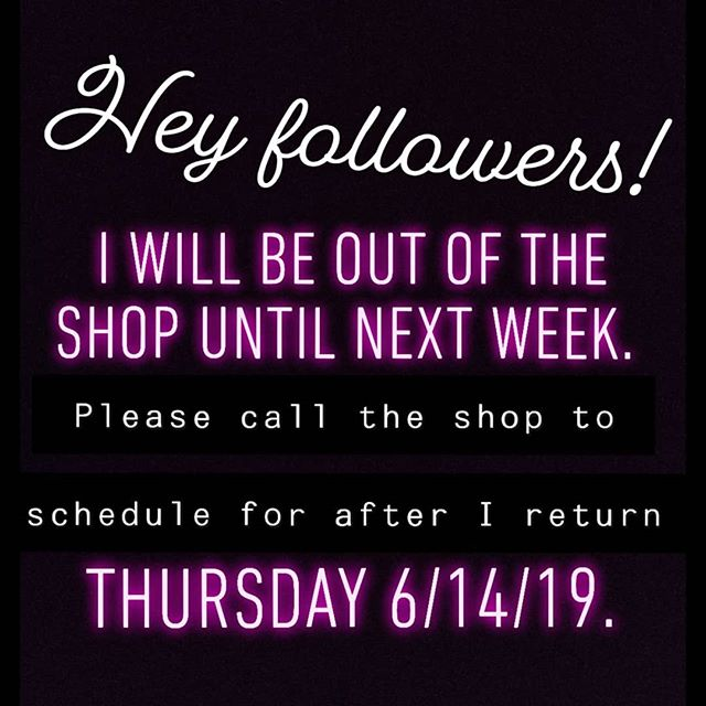 HI GUYS! I'm taking a trip and will not be back in the shop until next week.  If you've sent me an email, I'll be responding to all messages before I leave Tuesday afternoon (6/4). If you're looking to schedule a consultation during my absence, feel free to call the shop for assistance. I return on Thursday, 6/14/19! If you'd like to wait, I'll be responding to emails again upon my return.  Thank you EVERYONE for your patience! Looking forward to being back refreshed and ready to tackle all your projects!  #muchneededvacation #illmissyou #bebacksoon