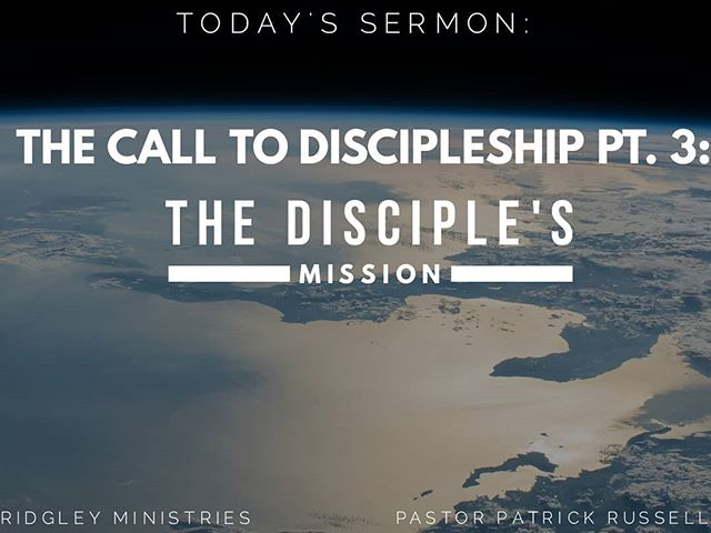 """It's Thursday, and we are in the midst of an amazing week of concecration! To help us reflect and focus, here are some notes from Pastor Patrick's last installment of the """"Call To Discipleship"""" series. #RidgleyMinistries #COGIC #WelcomeHome #PastorPatrickRussell #LadyTekeshaRussell"""