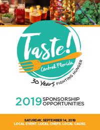 View the 2019 Taste! Central Florida sponsorship packet.