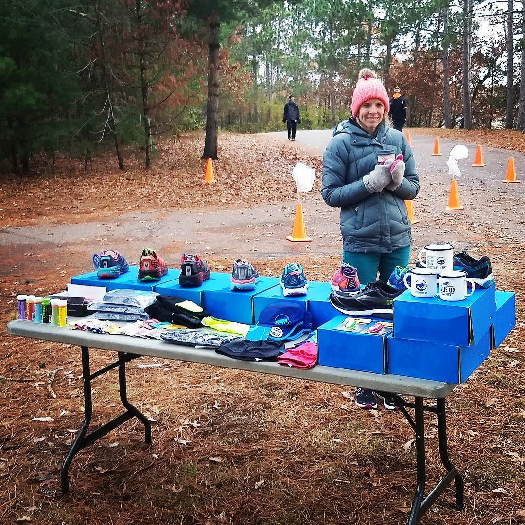 Colder one at Carson 5&10 today. Check us out at the finish line with @hokaoneone, #trailrunning shoes, and @brooksrunning Gortex shoes for #winter running..jpg