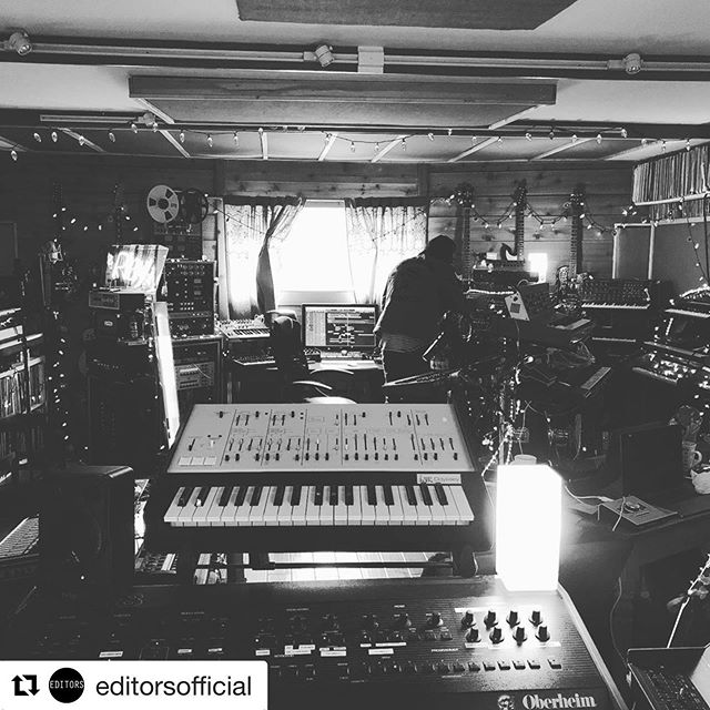 Earlier this year recording with @editorsofficial and @jacknifelee