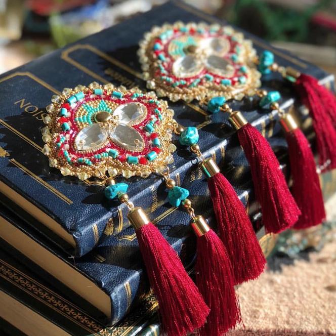 Jewellery by Angel Aubichon.