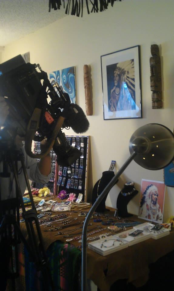 CBC interview in studio