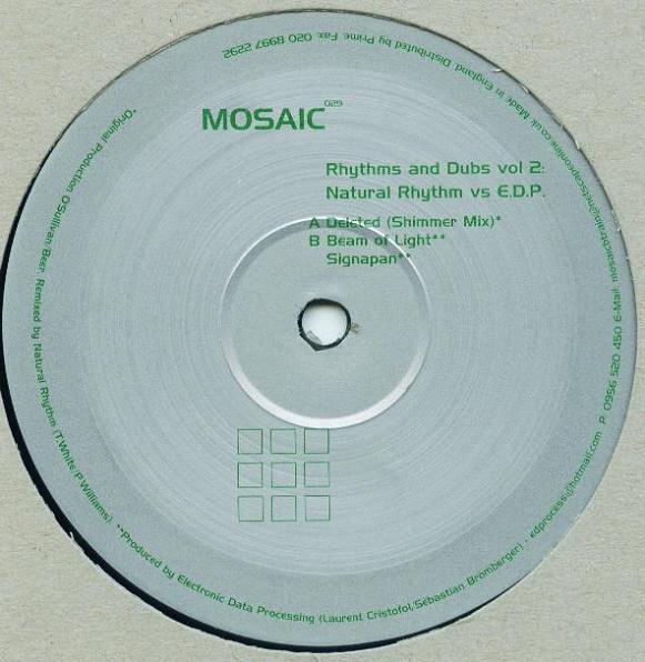 Rhythms and Dubs Vol. 2  Mosaic