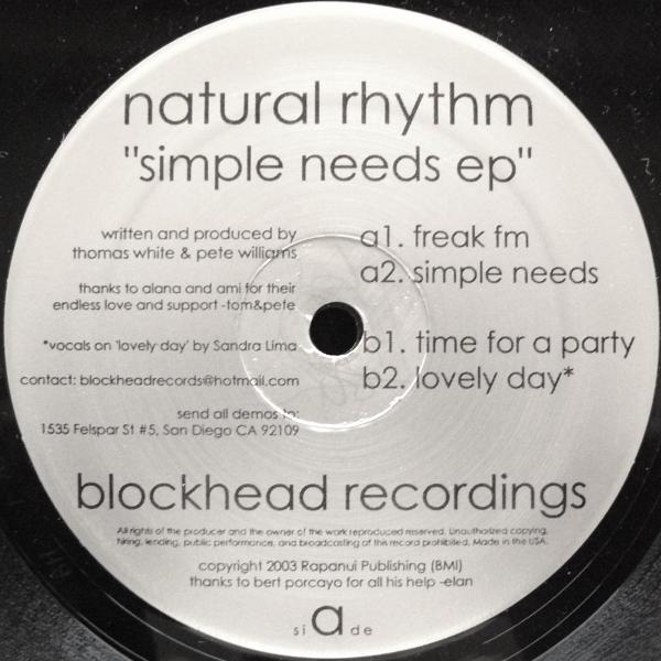 Simple Needs EP  Blockhead Recordings (2003)