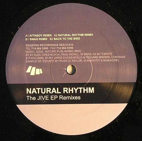 """Natural Rhythm """"Jive Remixes  Seasons Recordings (2000)"""