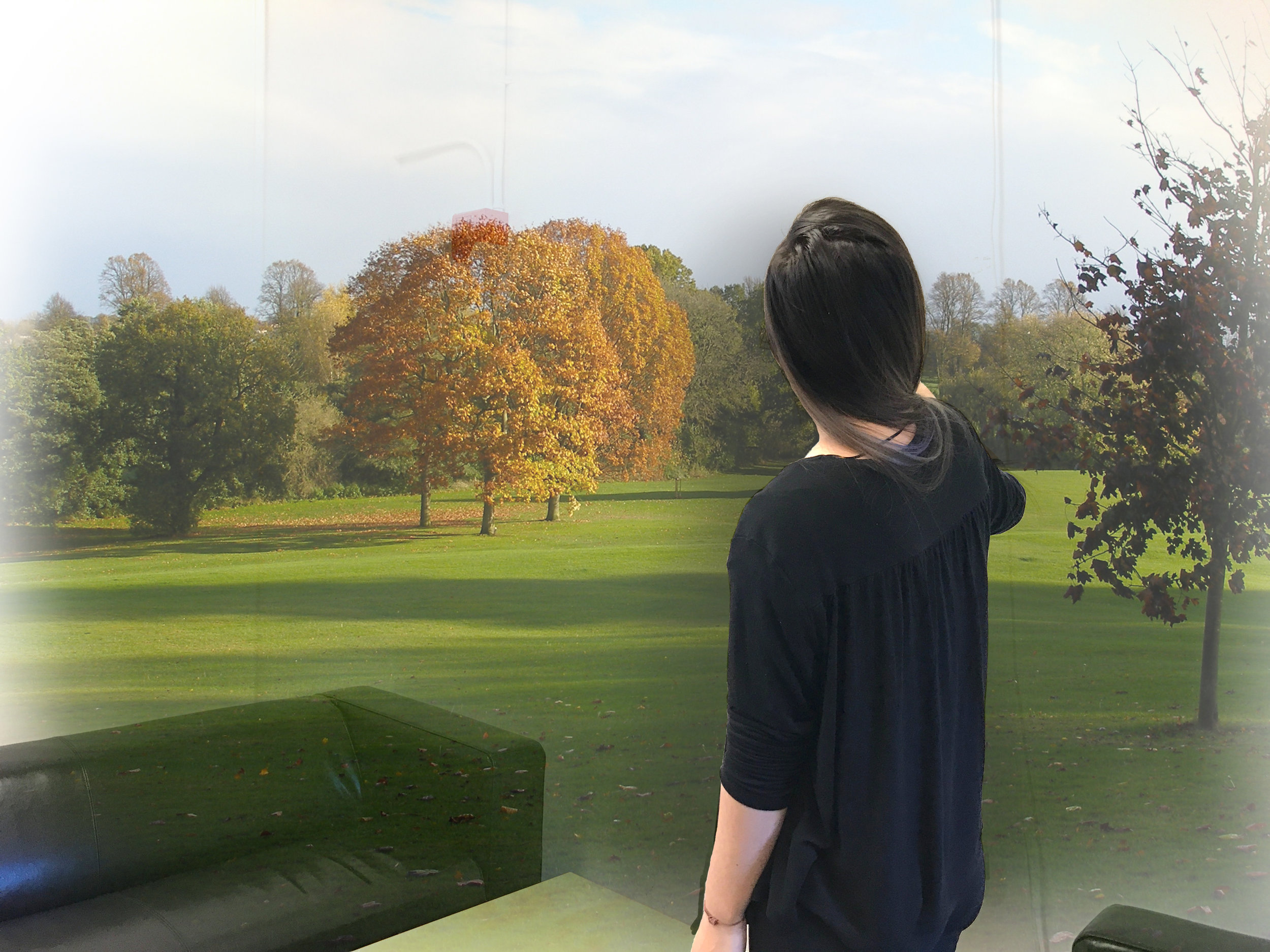 The user interacts with the full immersive memory visualization.