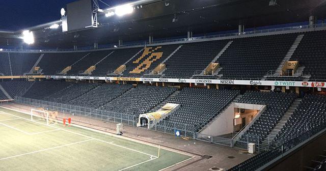 👀 Location Scout @BSC_YB Stade de Suisse ⚽ in Bern. Beeindruckend!