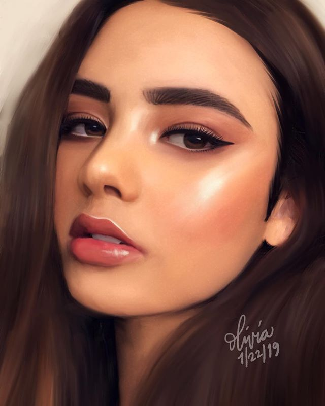 Saw this #portrait on @pinterest and knew instantly I HAD to paint her! She's so beautiful... and that highlight?! ❤️🥰 . Created on @procreate and used a different brush this time. 😉 . #illustration #painting #portraitart #portraiture #model #beautyart #artistsoninstagram #artists #artistsofinstagram @shiranou #art_spotlight #digitalart #artwork #artoftheday #drawingoftheday #digitalpainting #instaart