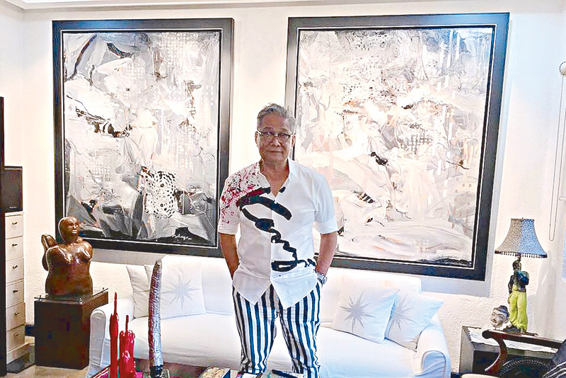 Artist Edwin Wilwayco at home.