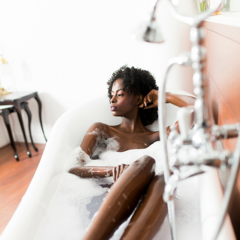 Bath (Bubbles Optional) - A warm (not hot!) bath may be just the ticket for relieving your backache, so sit back, relax, and soak it out.