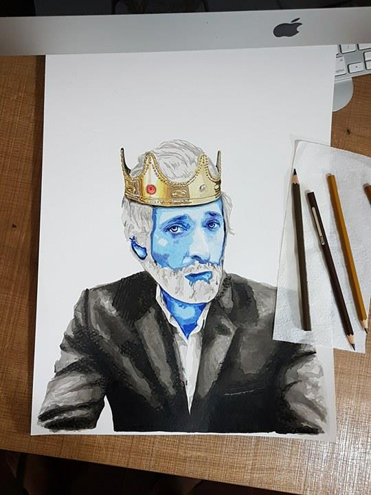 His magnificent crown in aquarelle