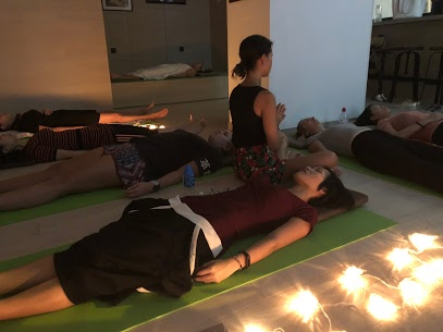 """""""Relax with Reiki"""", group class on Friday nights."""