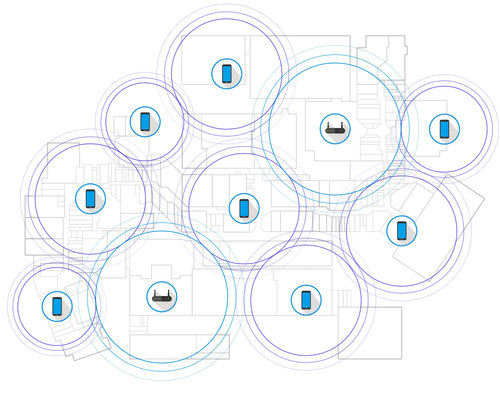 What an Enterprise Wi-Fi coverage area with Anyfi looks like