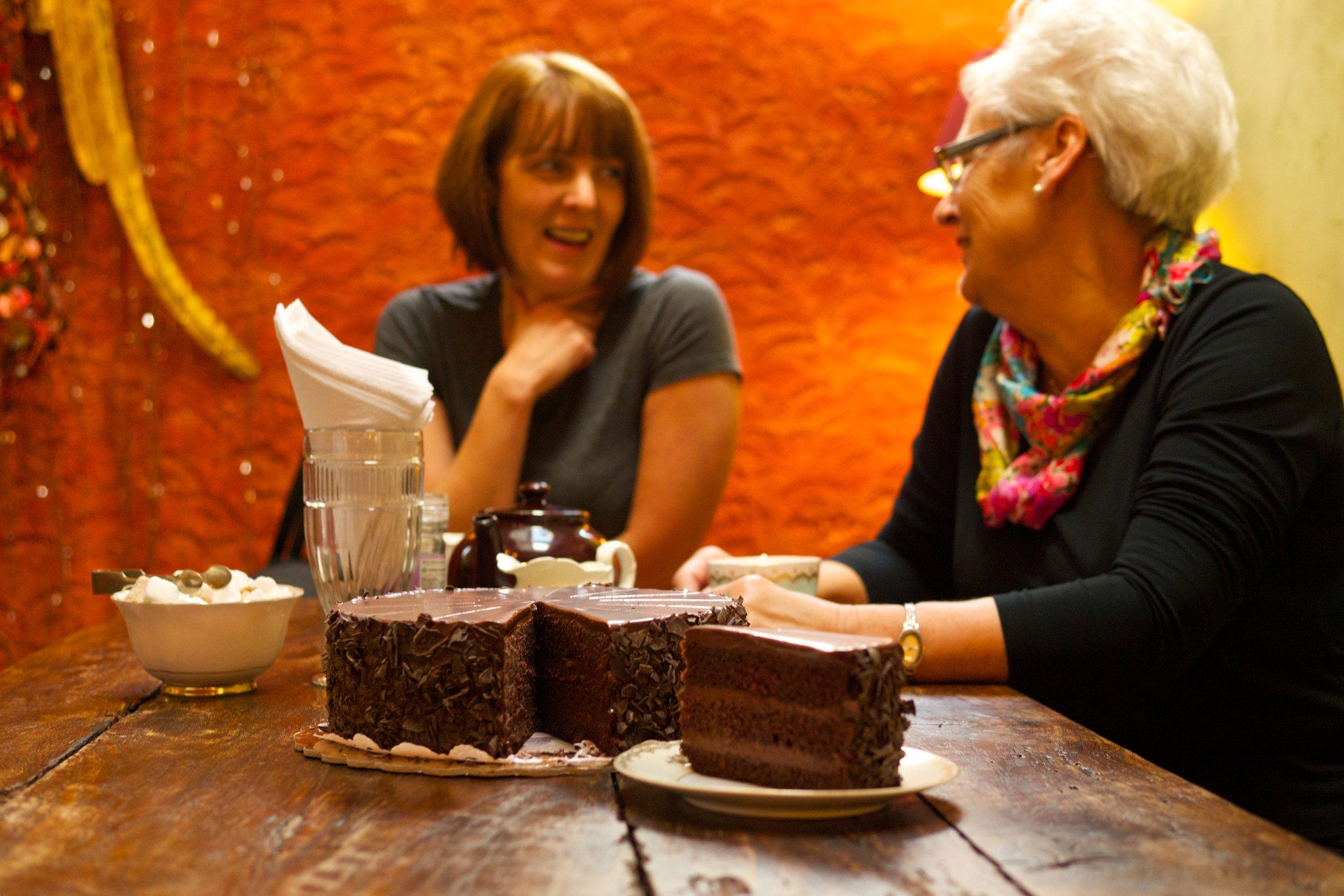 Cocoa Tree Cafe Famous Artisan Luxury Chocolate Cake, Pittenweem, East Neuk, Fife, Scotland.