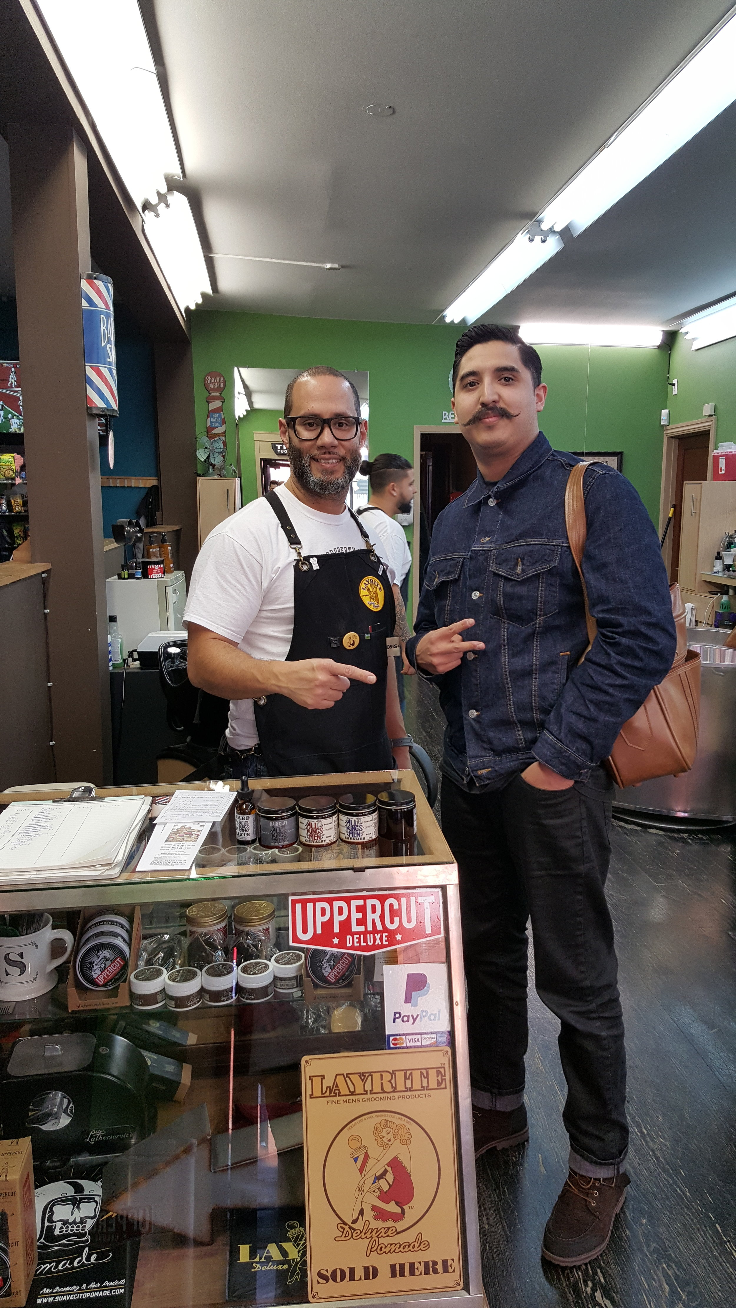 Wilfredo Soto age 43 ( Master Barber/ Tonsorial teacher) licensed certified.   Owner and Manger since 03 .