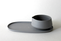 Olive oil cup and saucer, 2015