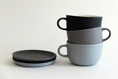Linum tea cup with handle