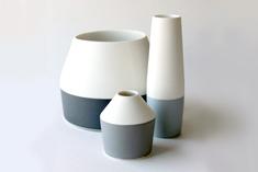 Seam vases height 8 to 16cm, 2009-11