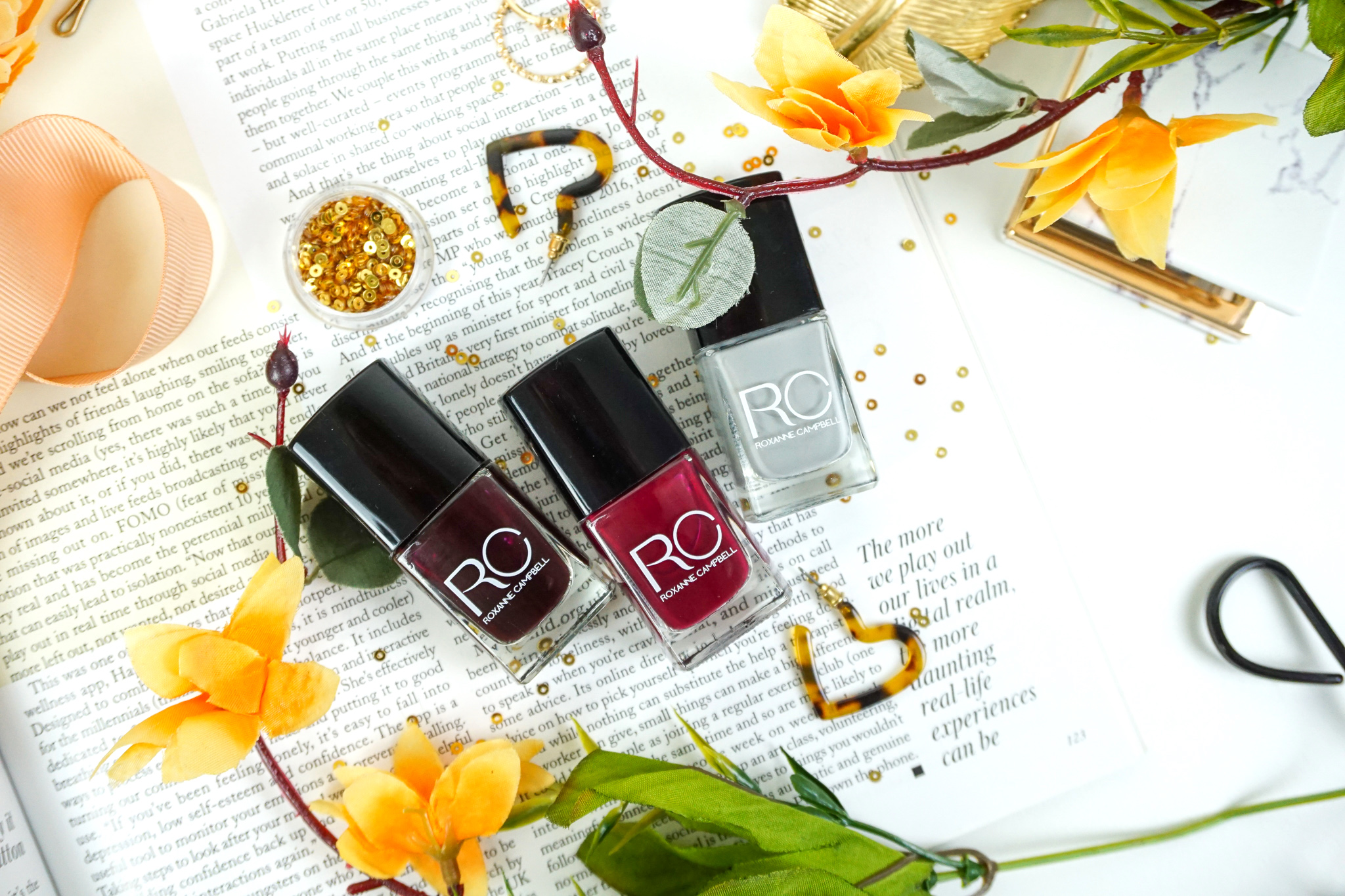 Roxanne Campbell Luxury Nail Polish - I couldn't resist trying these nail shades perfect for Autumn and Winter…