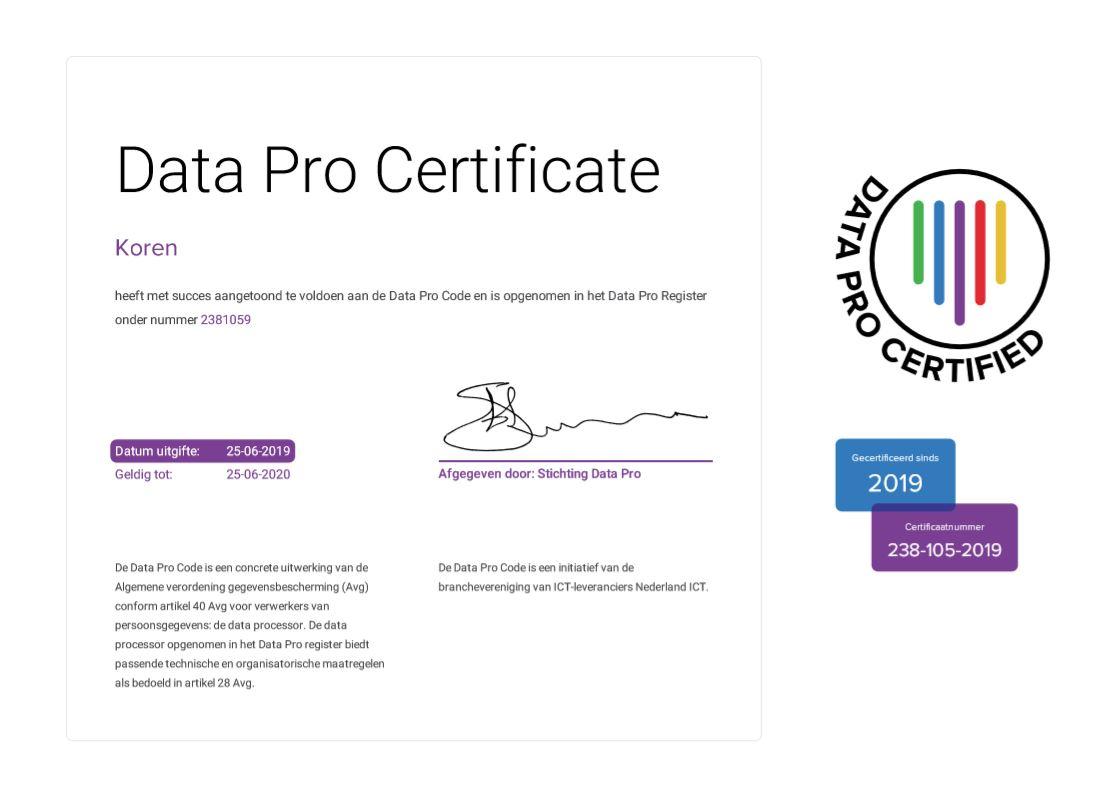Data pro certificate