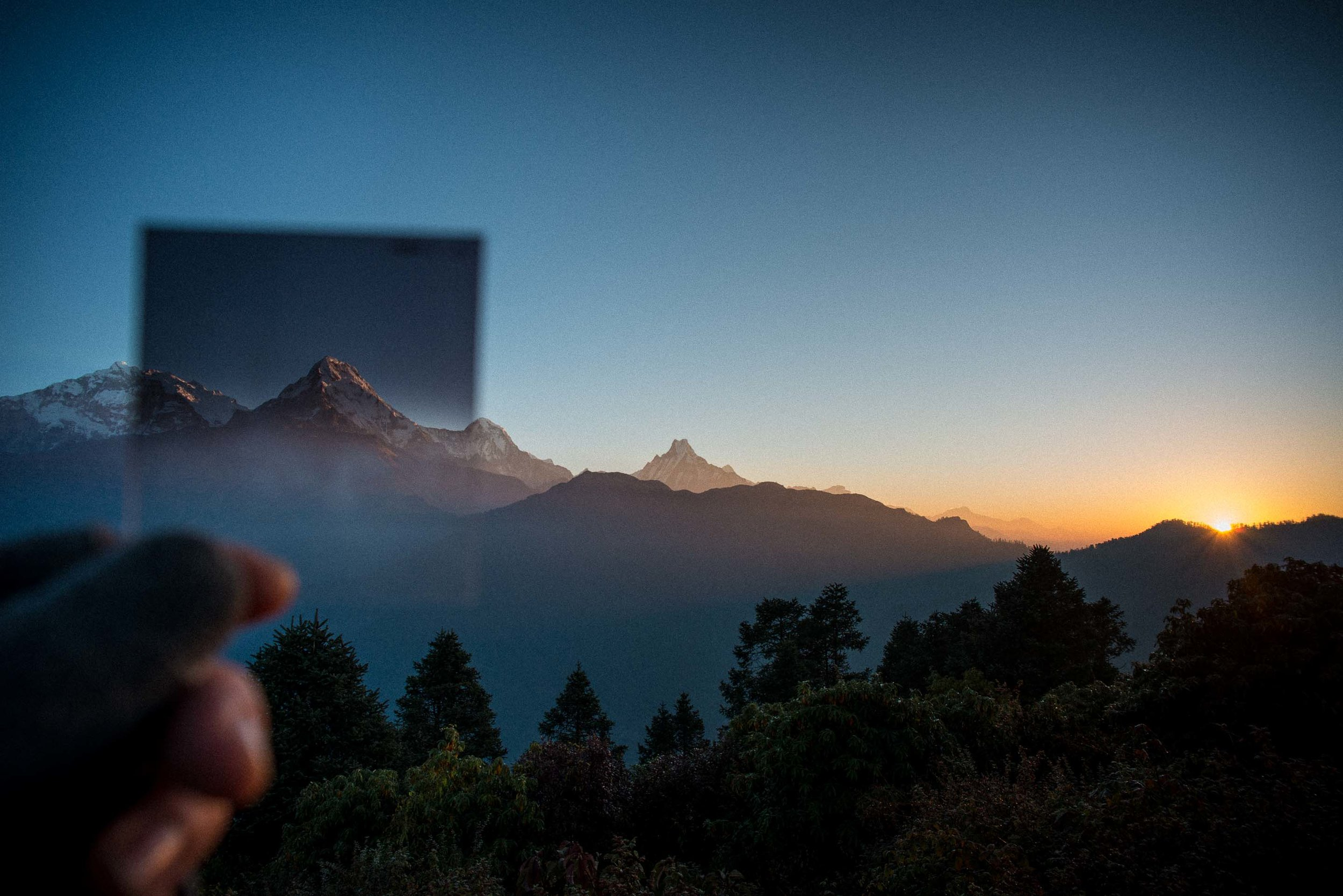 The most amazing sunrise of my life - The Himalayas, Nepal