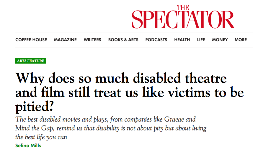 The Spectator article  by Selina Mills