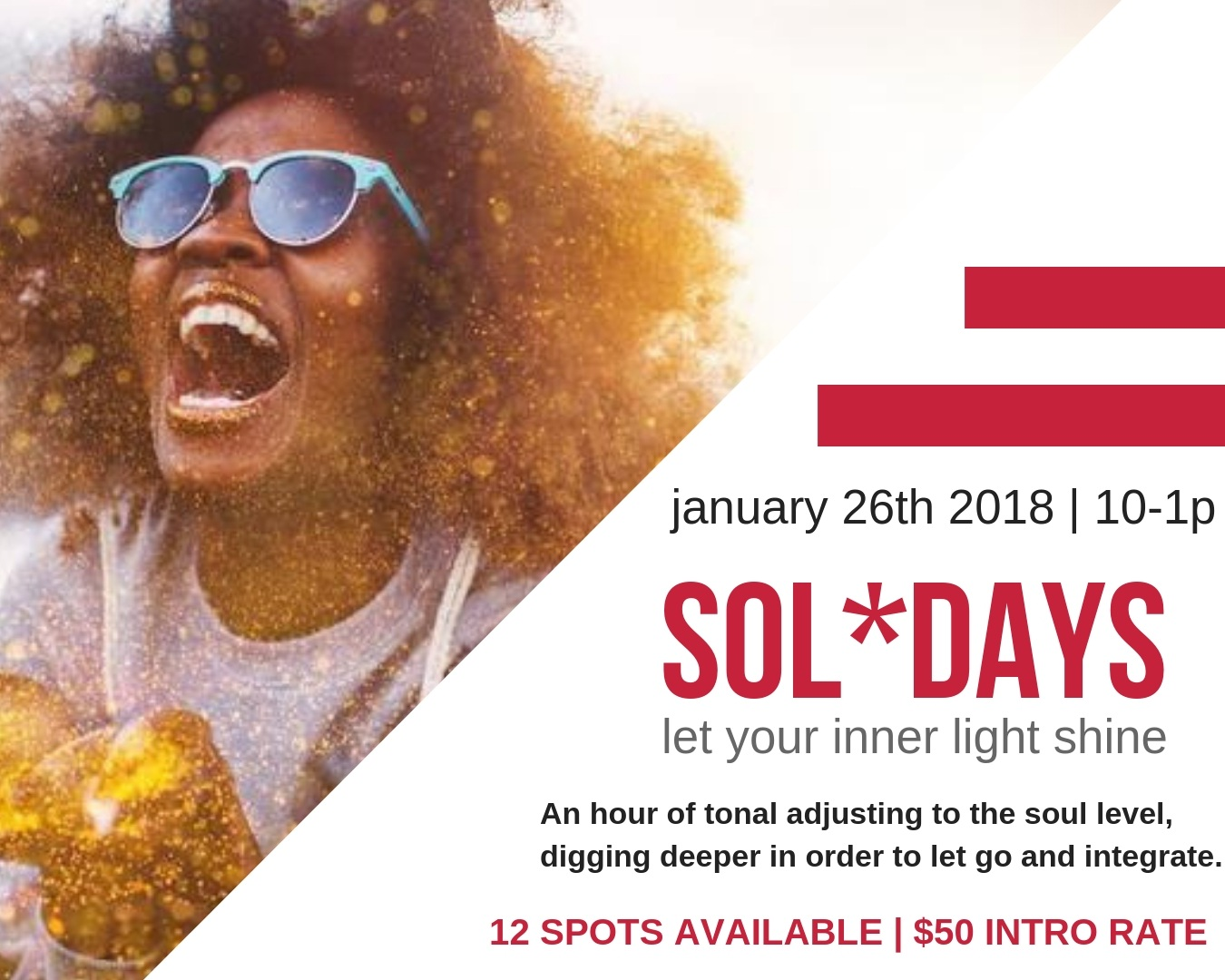 SOL*DAYS - Group adjusting sparking your inner light to shine…