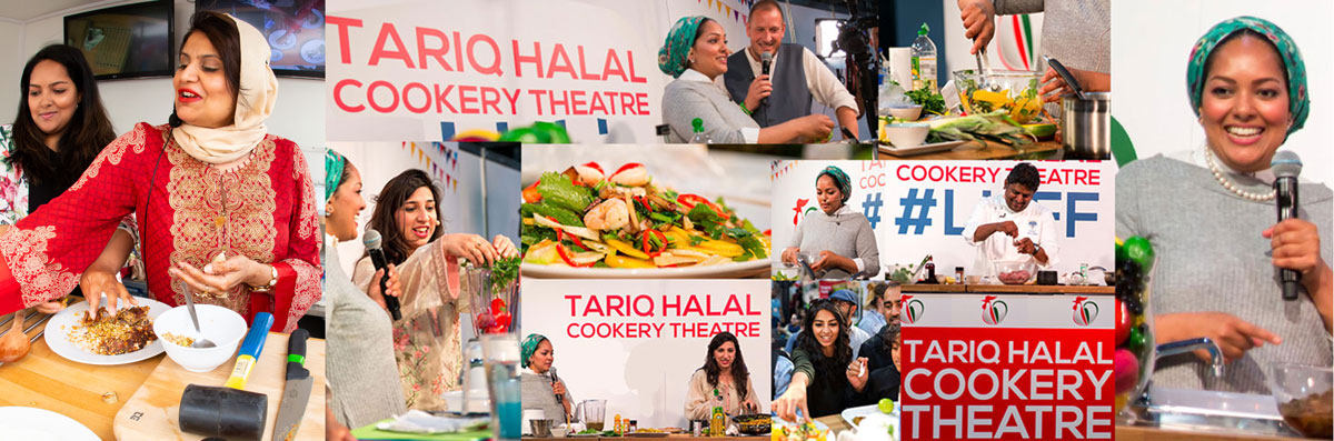 Watch live cookery demos with expert celebrity chefs at The Tariq Halal Cookery Theatre at London Halal Food Festival 2018, Tobacco Dock, 11th-12th August 2018. Entry to cookery theatre included in all festival entry tickets.Buy Tickets now