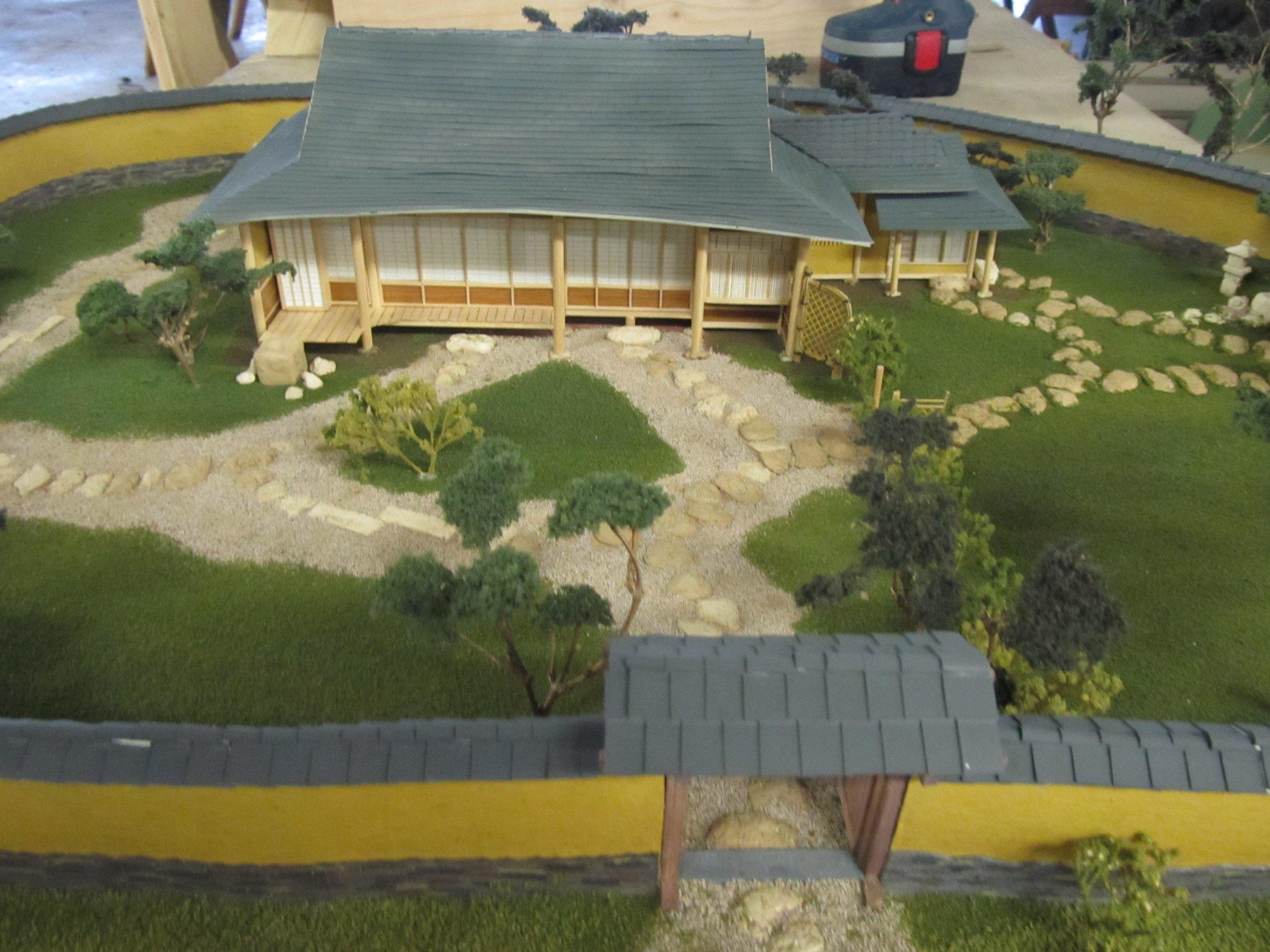 Model of Teahouse restoration