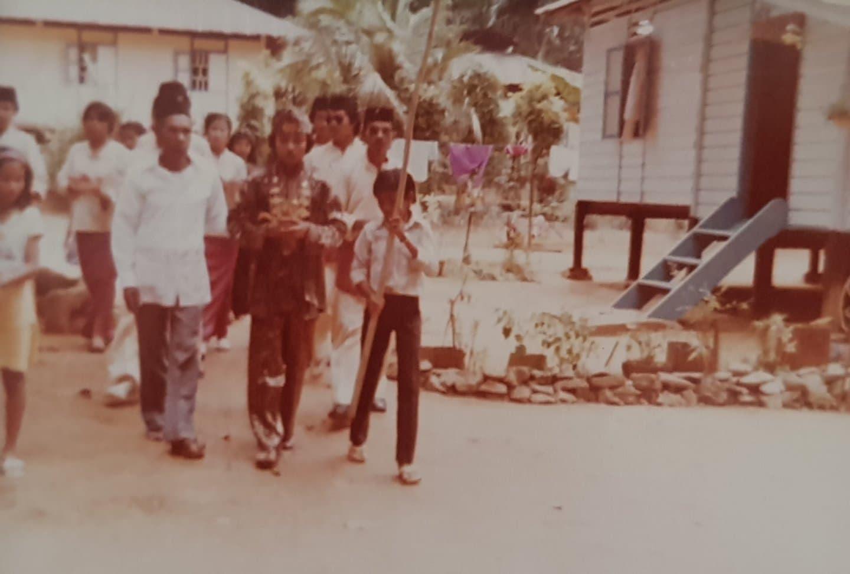 Malay Wedding Procession in the 1980s, image courtesy Cik Rosmala