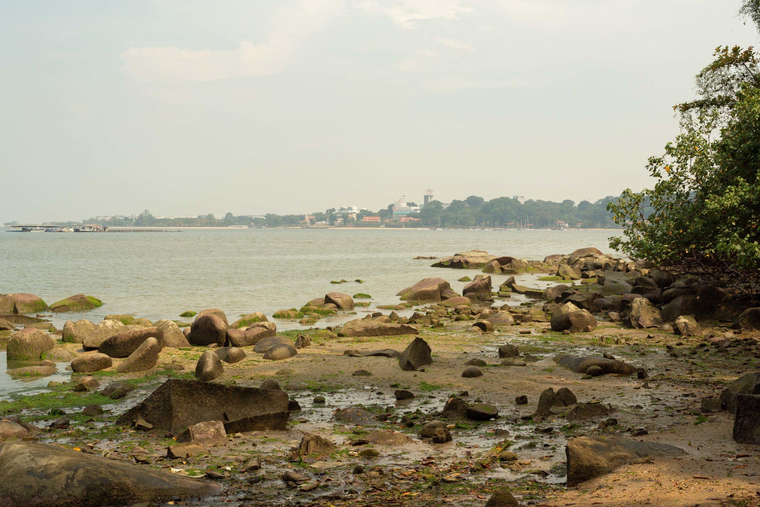 View from the shore near Kampong Sungei Durian toward mainland Singapore