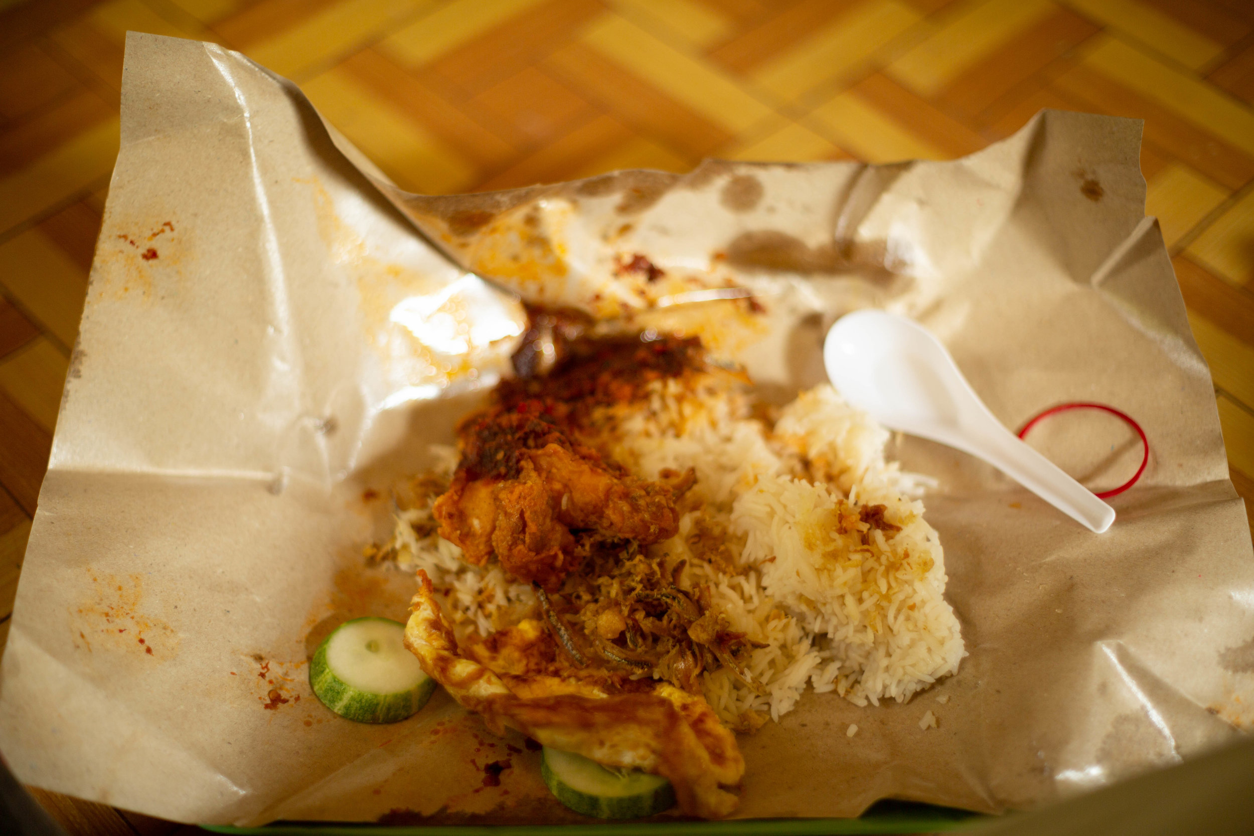Nasi Lemak, delicious rice gifted meal from our hosts