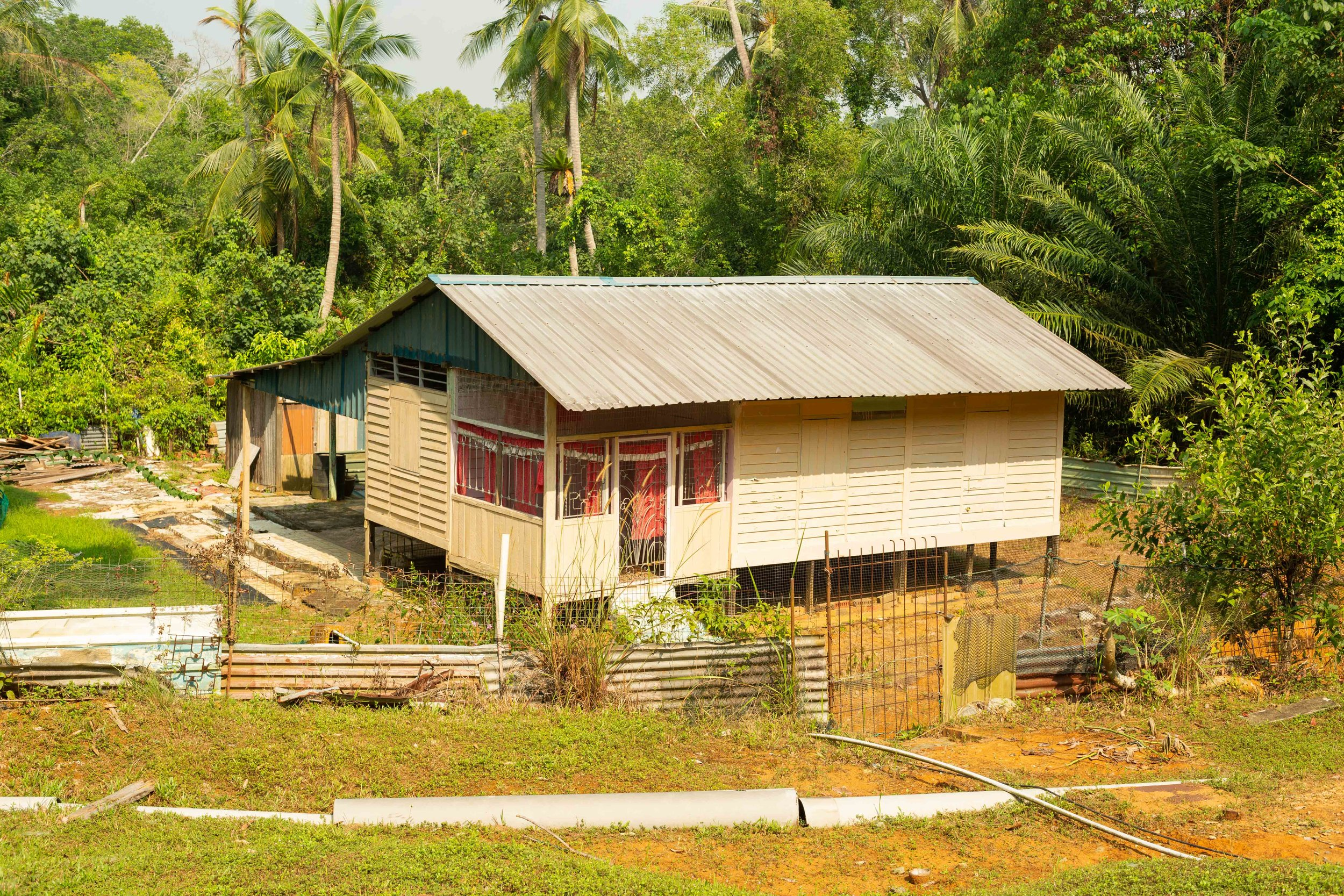 A new kampong home built from funds pooled by the entire community after NParks would not provide funds to restore the existing kampong