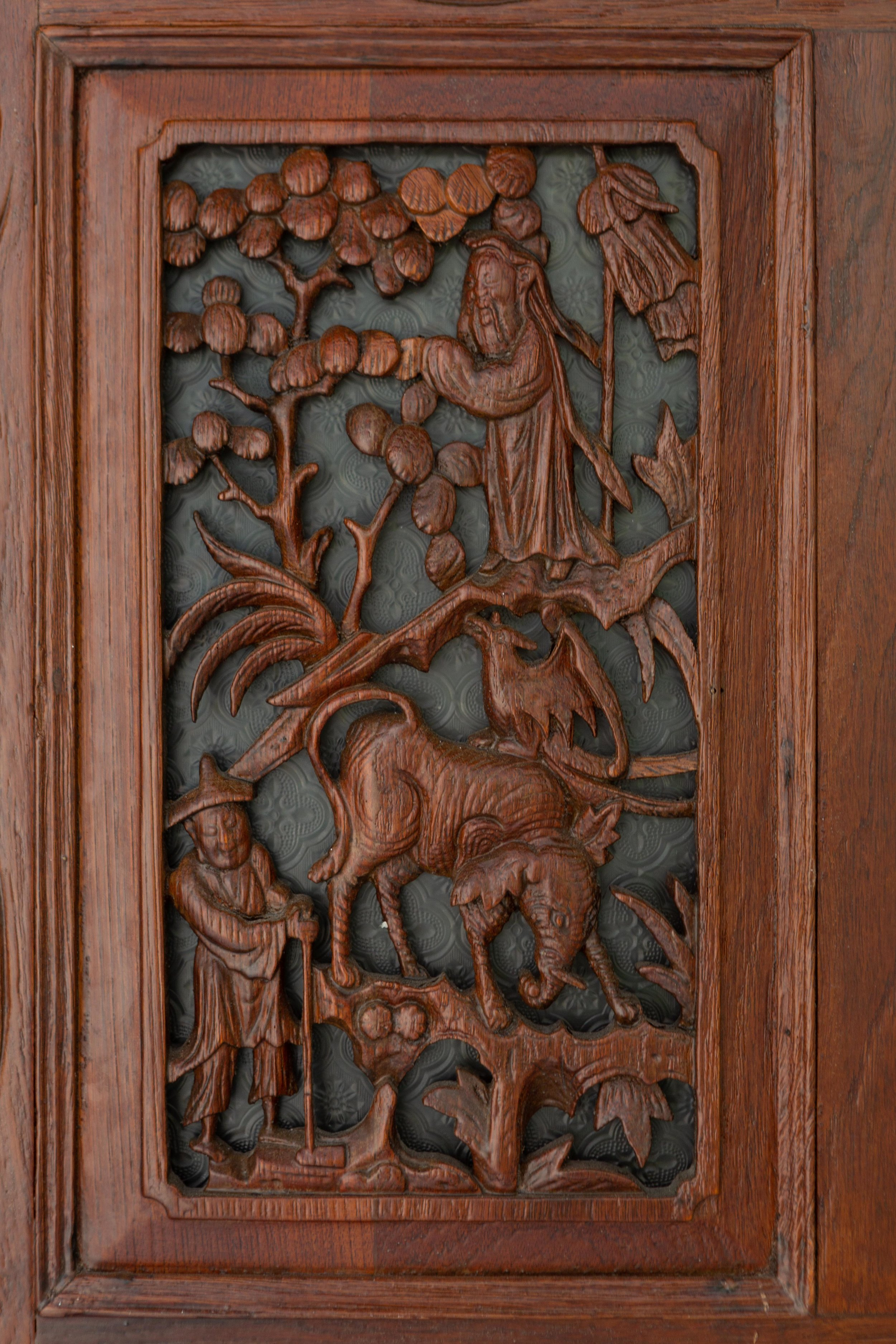 Wood carved ornamentation outside a Emerald Hill home