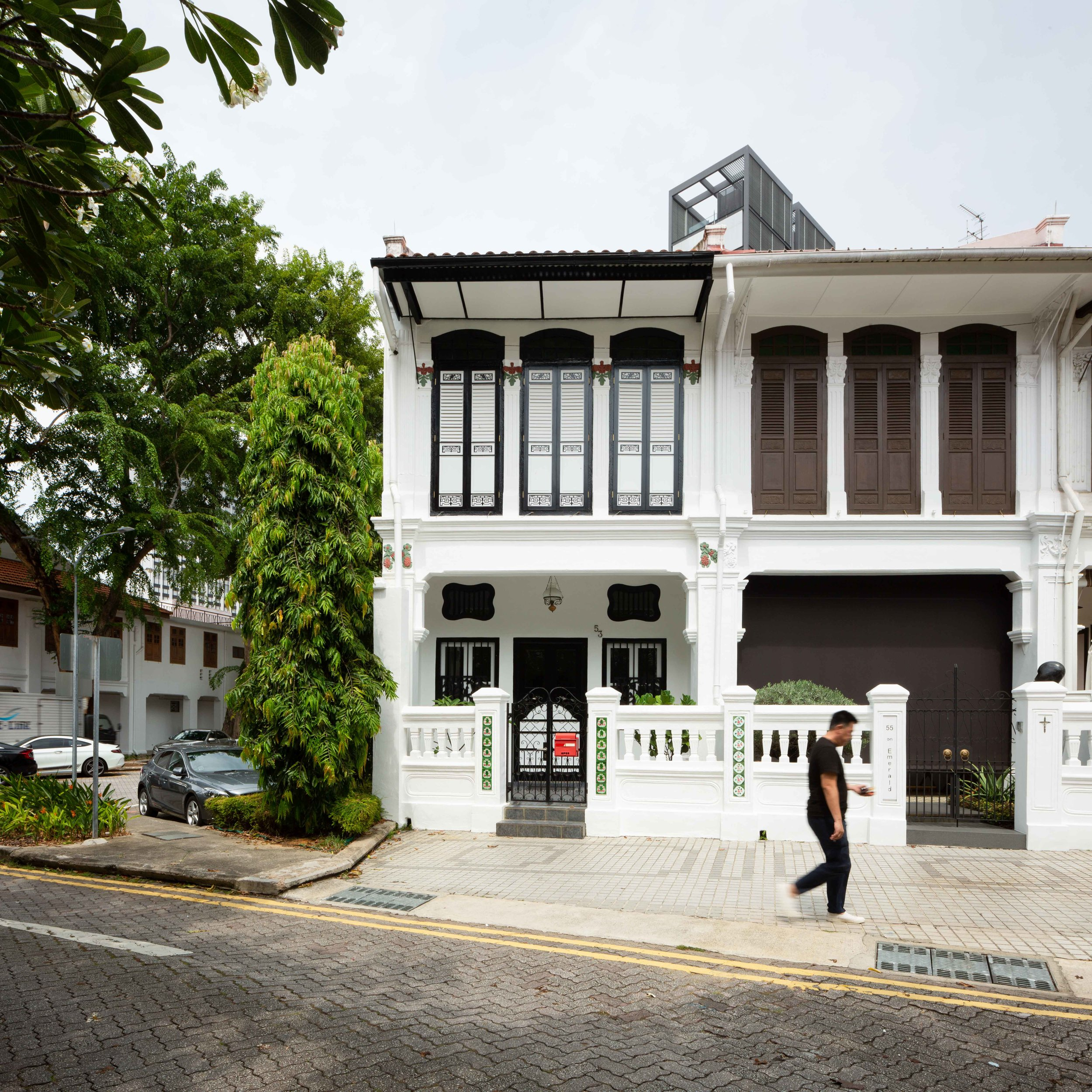 A shophouse along Emerald Hill, designed by R.T. Rajoo and developed by Low Koon Yee in 1924