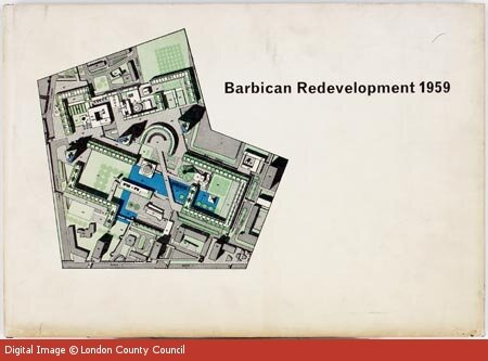 Plans for the development of the Barbican Centre, 1959, image owned by London County Council.jpeg