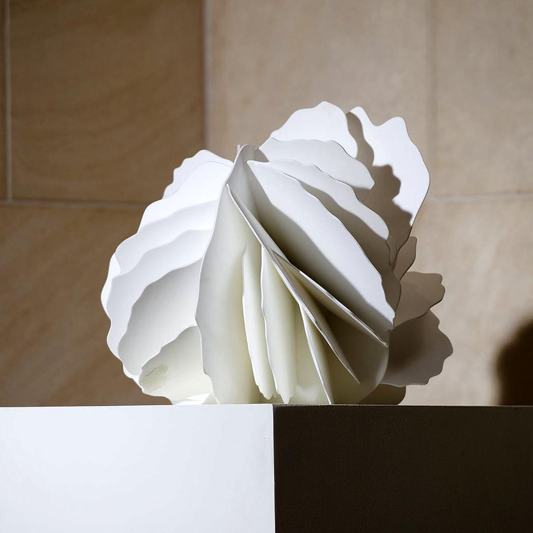 Desert Rose I   2015. 3D-printed nylon. 14 x 14 x 14 in., 35.6 x 35.6 x 35.6 cm.